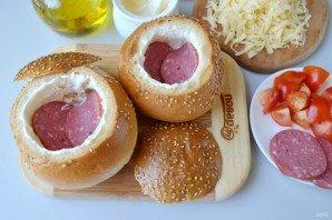 Булочки, фаршированные омлетом, на завтрак - фото шаг 5