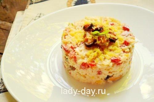 Салат с мидиями, рецепт с фото очень вкусный