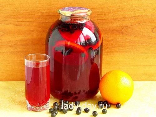 Компот из черноплодной рябины простой рецепт