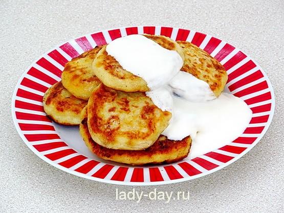 сырники на сковороде