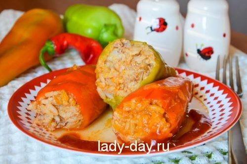 фаршированный перец с мясом и рисом рецепт