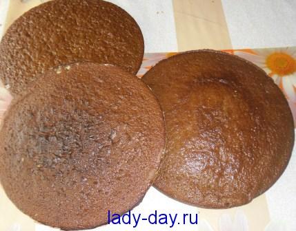 Шоколадные коржи на торт