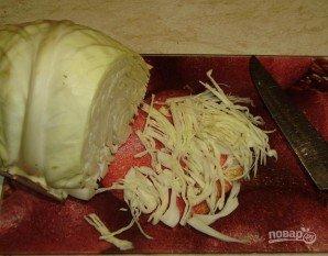Салат из свежей капусты и болгарского перца - фото шаг 2