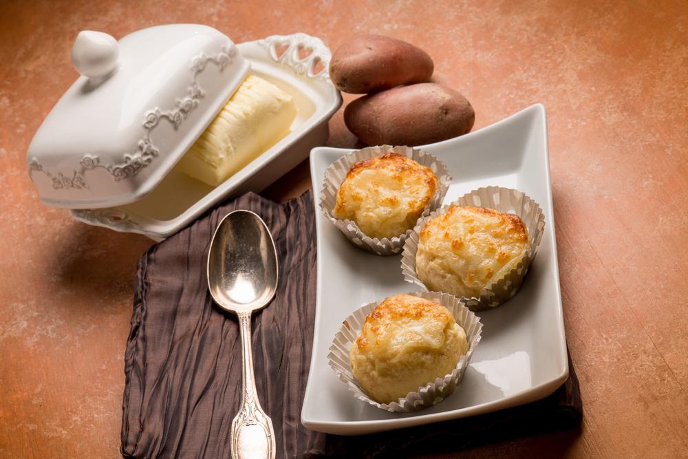Гратен из картофеля в стиле маффинов