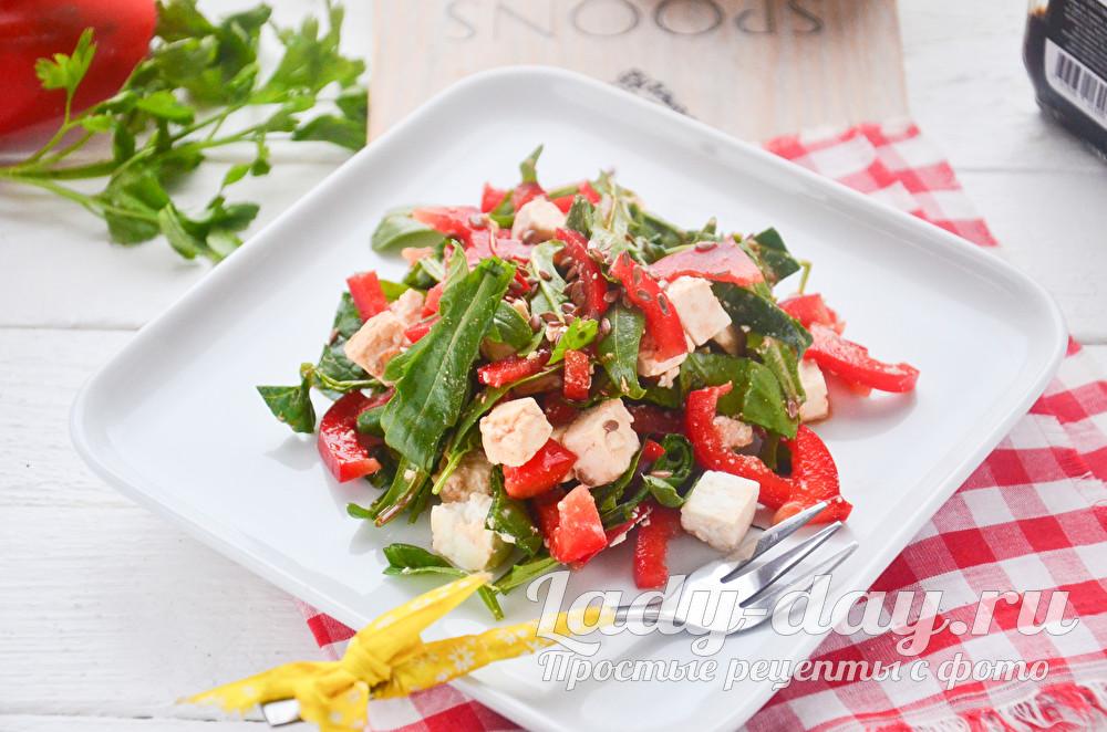 Салат с рукколой и болгарским перцем фото