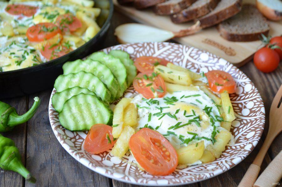 Яичница с картошкой по-деревенски
