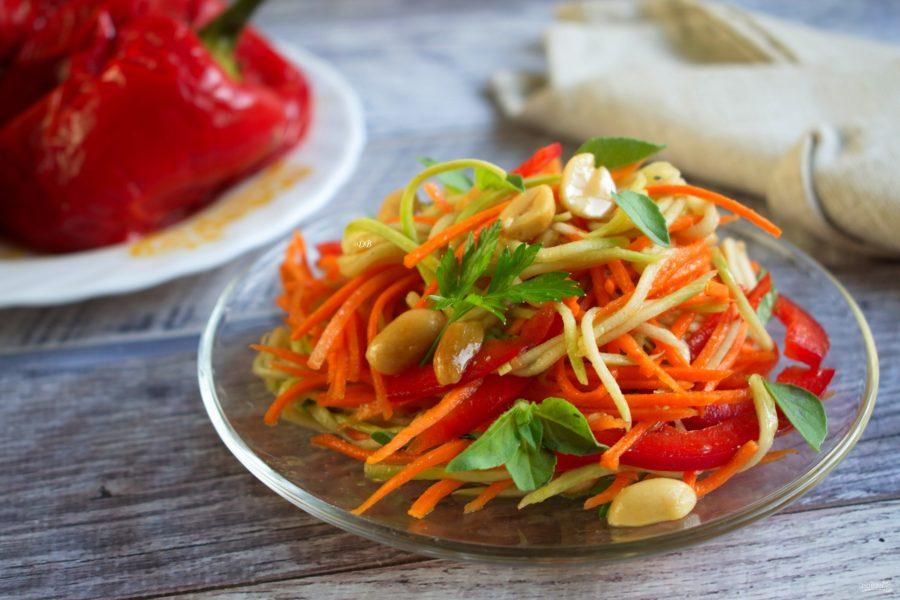 Салат из кабачка и моркови