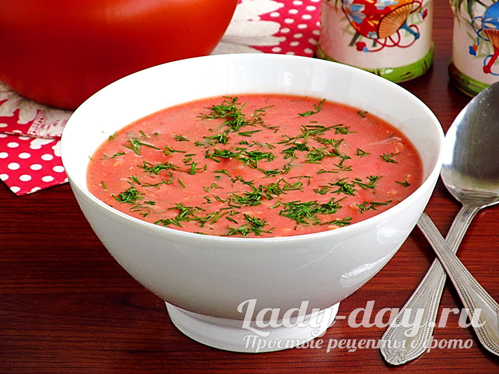 Окрошка на томатном соке рецепт