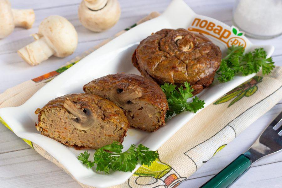 Печеночное суфле с грибами