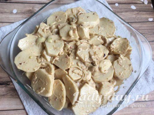 картошка в жаровне