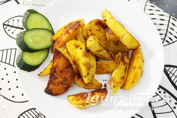 Картошка по деревенски в духовке, рецепт