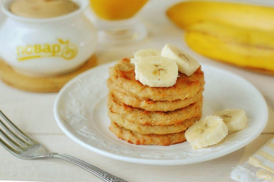 Полезные сырники с бананом в духовке
