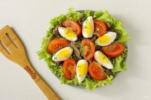 Салат с куриной печенью без майонеза - фото шаг 8