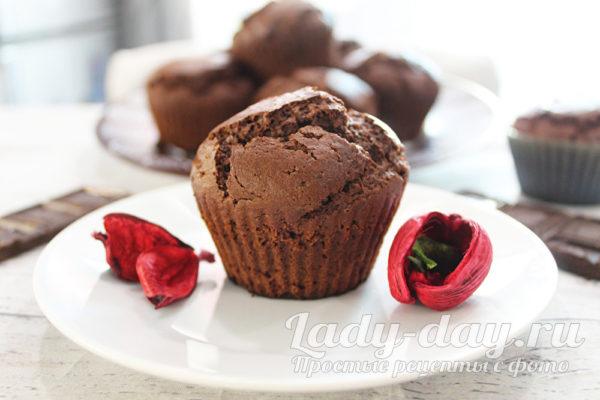 маффины шоколадные на кефире рецепт классический