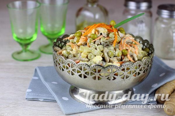 салат с куриной печенью рецепт с фото очень вкусный