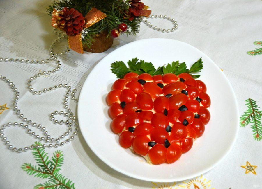 """Салат """"Зимняя ягодка"""""""