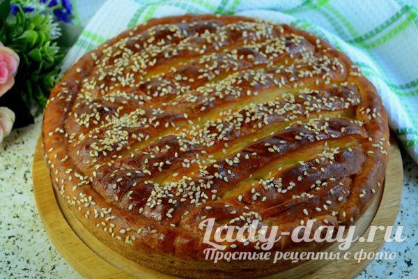 Пирог с яйцом и зеленым луком, рецепт с фото в духовке