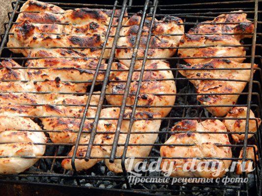 куриные грудки на мангале