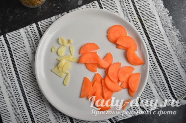 морковь и чеснок