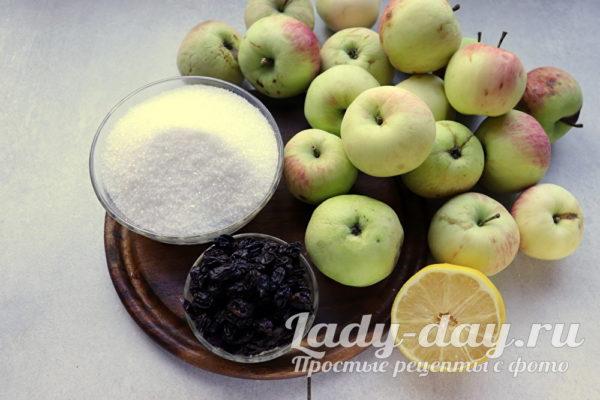 яблоки изюм сахар