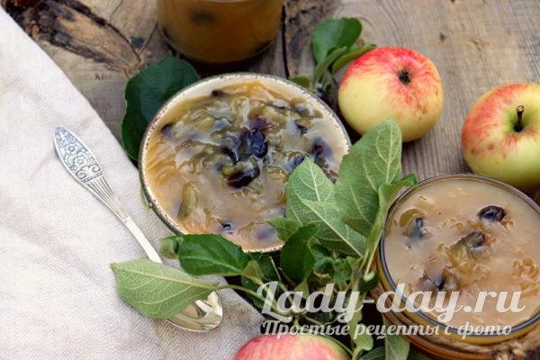 Яблочный джем с изюмом, простой и вкусный рецепт на зиму