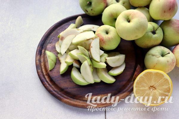 яблоки дольками