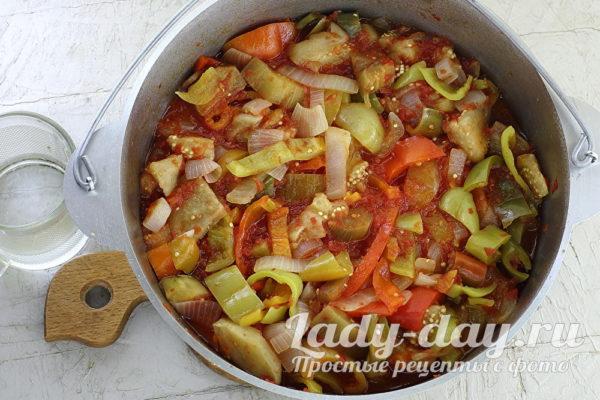 тушить овощи