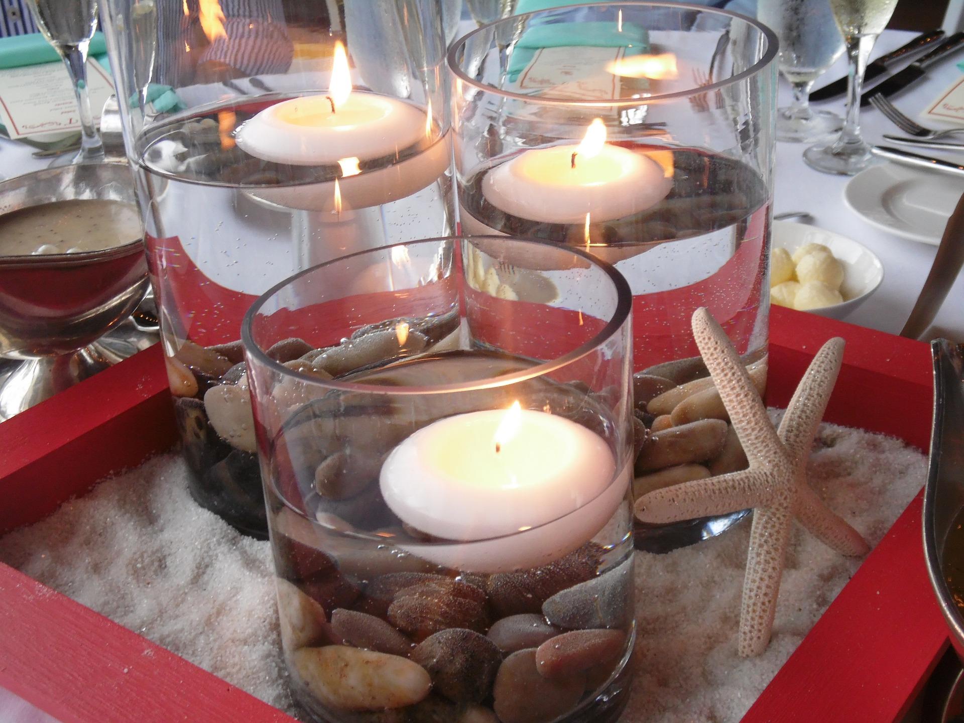 Свечи в стакане