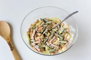 Салат из стручковой фасоли с колбасой - фото шаг 8
