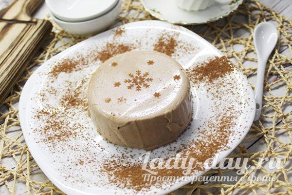 Изумительный десерт из ряженки с какао, для всех кто хочет быть стройными