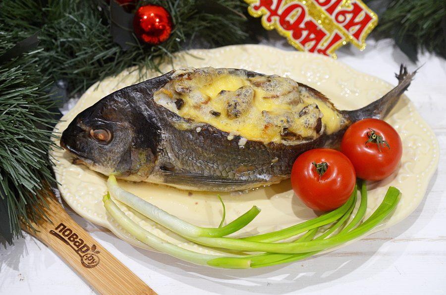 Дорадо с морепродуктами
