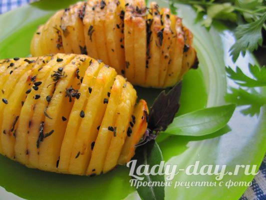 запеченный картофель в духовке рецепт с фото пошагово