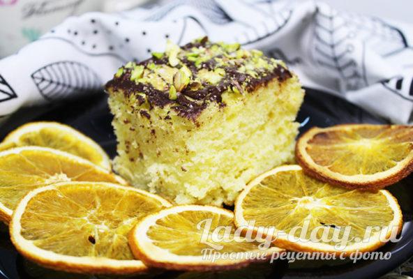 Апельсиновый пирог всего за 30 минут в духовке
