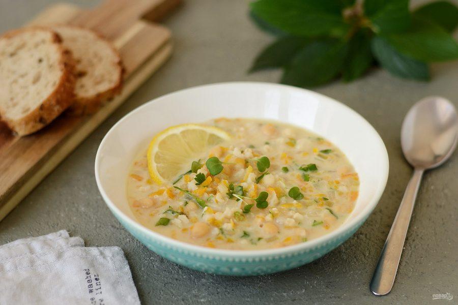 Суп с рисом и нутом