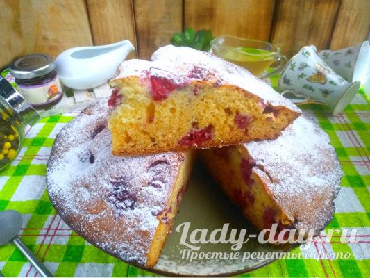 Пирог с замороженными ягодами: все смешал и готово