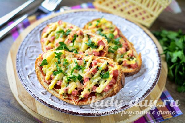 мини пицца на батоне в духовке за 10 минут