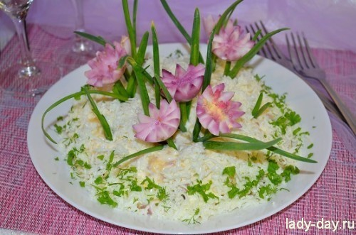 Салат подснежники фото