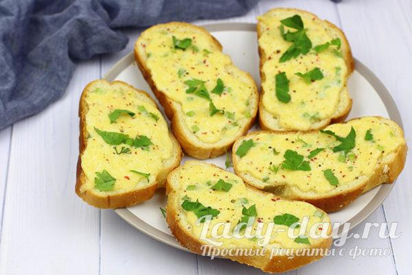 Быстрые сырные гренки