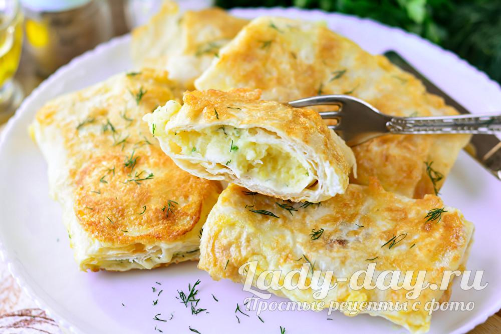 Ленивые пирожки с картошкой и луком