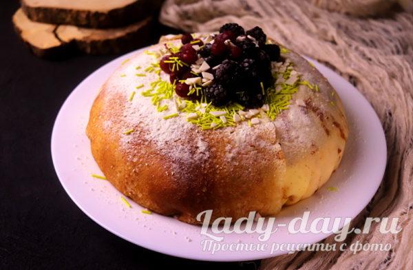 торт из блинчиков с творожным кремом