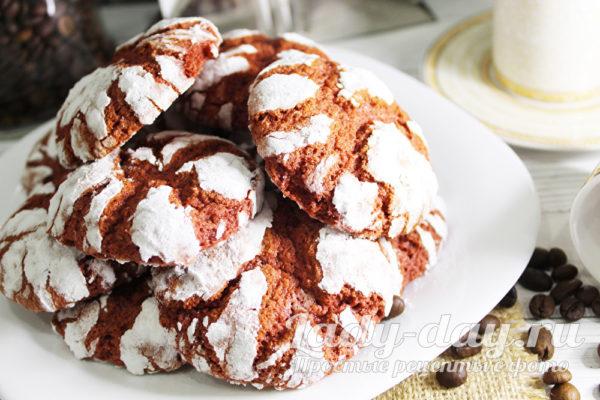 печенье шоколадное с трещенками