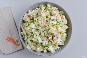 Салат из пекинской капусты с сыром - фото шаг 7