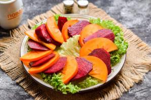 Салат с хурмой и свеклой - фото шаг 4