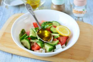 Салат с фетаксой и крабовыми палочками - фото шаг 7