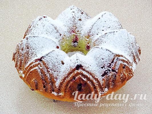 пирог с ягодами на скорую руку