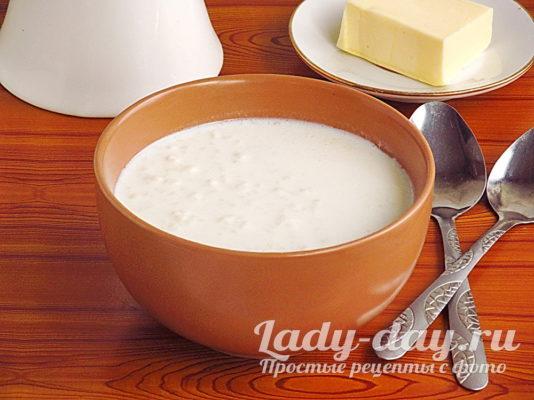 молочный рисовый суп