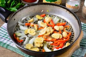 Рис с маринованными грибами - фото шаг 6