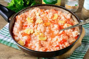 Рис с маринованными грибами - фото шаг 9
