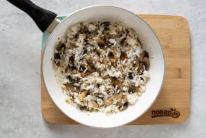 Рисовая каша с грибами - фото шаг 6