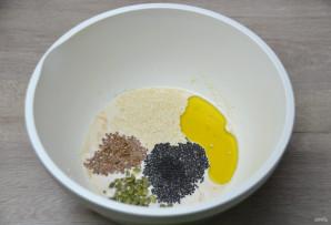 Зерновой багет - фото шаг 3